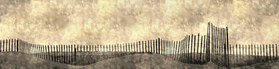 Photograph - Beach Fence Long Island by KM Corcoran