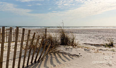 Beach Fence St Augustine Florida Print by Michelle Wiarda