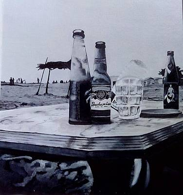 Away From The World Painting - Beach by Himanshu Aggarwal