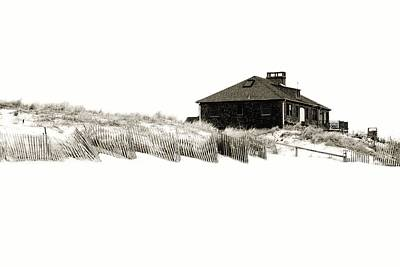 Sand Fences Digital Art - Beach House - Jersey Shore by Angie Tirado