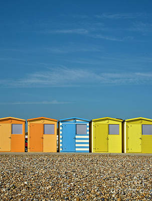 Beach Huts At Seaford Print by Heiko Koehrer-Wagner