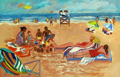 Beach In August Print by Betty Pieper
