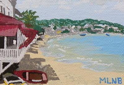 Beach In Grand Case Print by Margaret Brooks