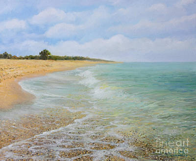 Bulgaria Painting - Beach Krapets by Kiril Stanchev