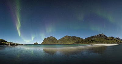 Aurora Photograph - Beach Panorama by Frank Olsen