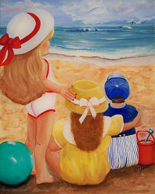Ocean Painting - Beach Party by Joni McPherson