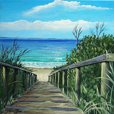 Walkway Drawing - Beach Pathway To Jb by Merrin Jeff