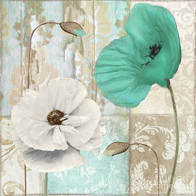 Filigree Painting - Beach Poppies Iv by Mindy Sommers