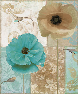 Blue Poppies Painting - Beach Poppies by Mindy Sommers