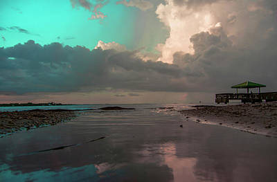 Beach Reflections Print by Michael Frizzell