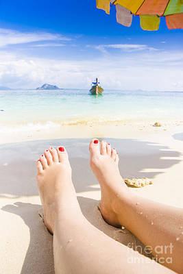 Sunbathers Photograph - Beach by Jorgo Photography - Wall Art Gallery