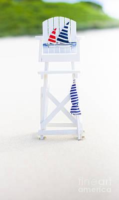 Wooden Platform Photograph - Beach Safety by Jorgo Photography - Wall Art Gallery