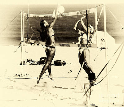 Volleyball Photograph - Beach Spike by John Rizzuto