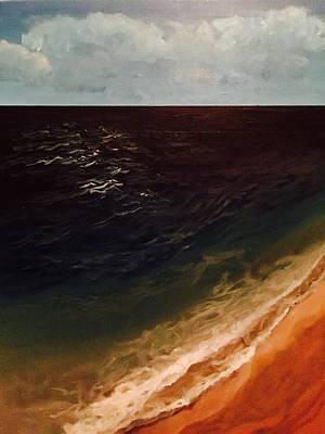Waves Painting - Beach Squared by Fallon Franzen