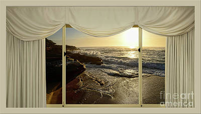 Room With A View Photograph - Beach Sunrise From Your Home Or Office By Kaye Menner by Kaye Menner