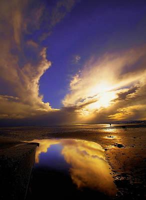 Beach Sunset Print by Svetlana Sewell