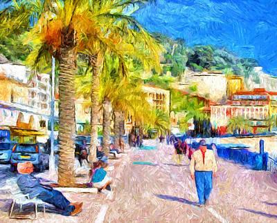 Building Exterior Digital Art - Beach Walk At Nice by Yury Malkov