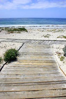 Beach Walk Print by Carol Groenen