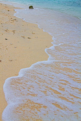 Beach Water Curves Print by James BO  Insogna
