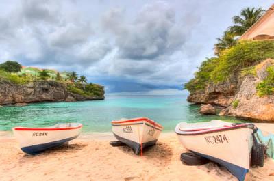 Seascape Photograph - Beached Boats by Nadia Sanowar