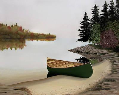 Beached Canoe In Muskoka Original by Kenneth M  Kirsch