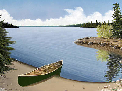 Beached In Ontario Original by Kenneth M  Kirsch