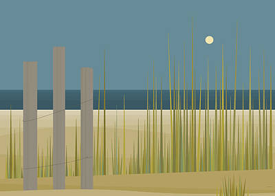 Sand Fences Digital Art - Beaches - Fence by Val Arie