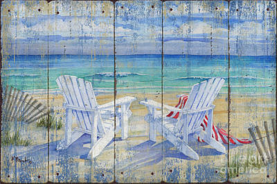 Chairs Painting - Beachview Distressed by Paul Brent