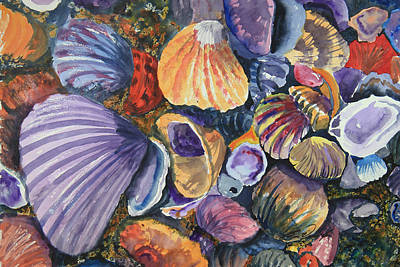 Shell Pastel Painting - Beachy Palette by Ben Vines Jr