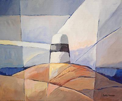 Handpainted Painting - Beacon Seascape by Lutz Baar