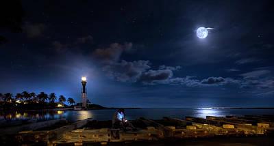 Beacons Of The Night Print by Mark Andrew Thomas