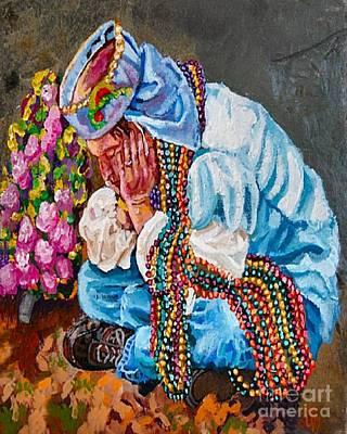 Mardi Gras Painting - Beaded Buzzard Break by Lisa Tygier Diamond