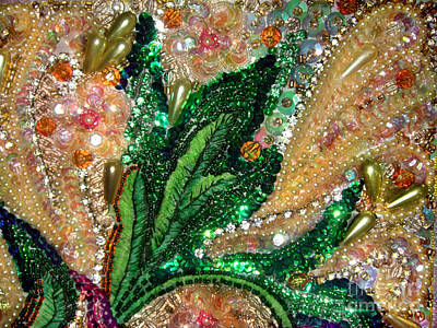 Bead Embroidery Photograph - Beadwork Art - Jeweled Bead Embroidery by Sofia Goldberg