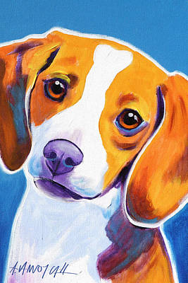 Beagle Puppies Painting - Beagle - Dixie by Alicia VanNoy Call