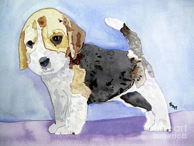 Lucky Dogs Painting - Beagle Pup by Sandy McIntire