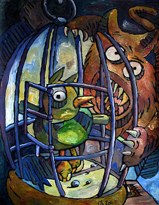 Loser Painting - Beak And Claw by Charlie Spear