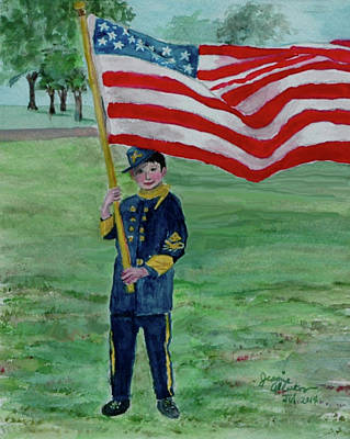 Beaming With American Pride Print by Jeannie Allerton