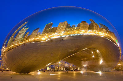 Travel Photograph - Bean Reflections by Donald Schwartz