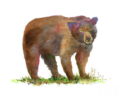 Brown Bear Painting - Bear by Amy Kirkpatrick