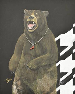 Bear Bryant Metaphor Print by Alex Maciel