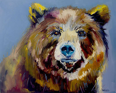 Gallery Wrap Painting - Bear Exposed by Diane Whitehead