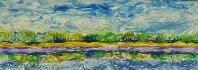 Hot Wax Painting - Bear Lake Shoreline by Cheryl Lynn Looker