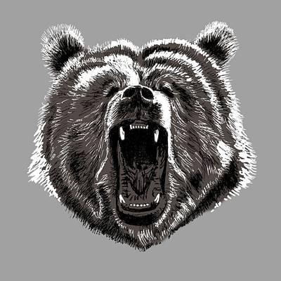 Bear Print by Masha Batkova