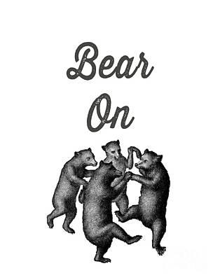 Joyful Mixed Media - Bear On by Edward Fielding