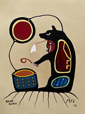 Lake Superior Art Gallery Painting - Bear Song by Francis Esquega
