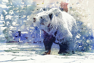 Bear Walk Print by Jutta Maria Pusl