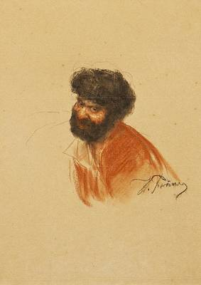 Bearded Man Print by Efimovich Repin