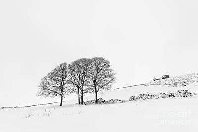 Balck Art Photograph - Bearstone Winter - Peak District by Richard Thomas