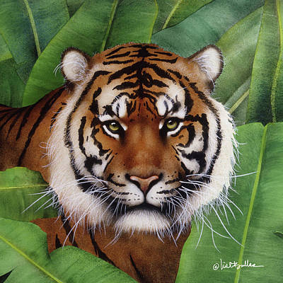Bengal Tiger Painting - beast of Burma... by Will Bullas