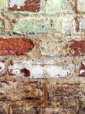 Macro Photograph - Beaten Brick Wall by Andrew Soundarajan